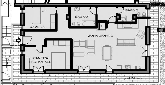 Il terzo appartamento della residenza ecosole for 1 piano 3 camere da letto 2 piani del bagno