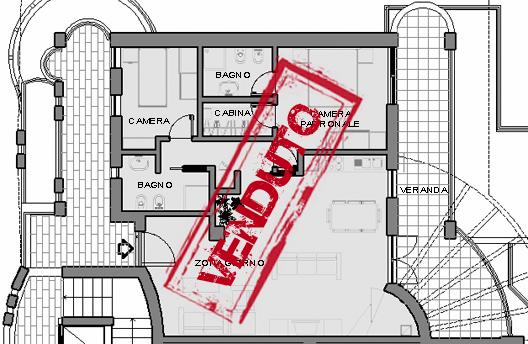 Il nono appartamento della residenza ecosole for Cabina armadio attraverso il bagno